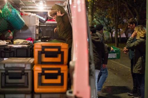 Unser treuer Transporter am Leopoldplatz